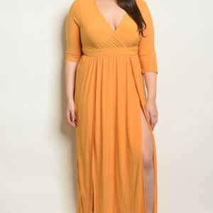 Dresses & Skirts - MUSTARD PLUS SIZE DRESS